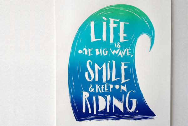 daniel lisson life big wave print