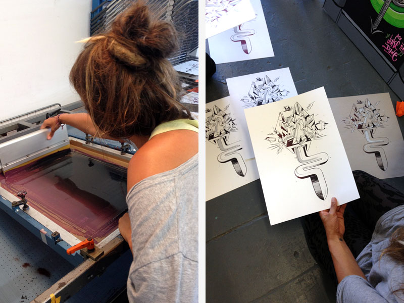 daniel lisson siebdruck workshop