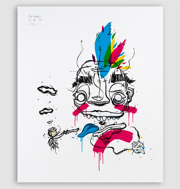 Der Indianer – screen print