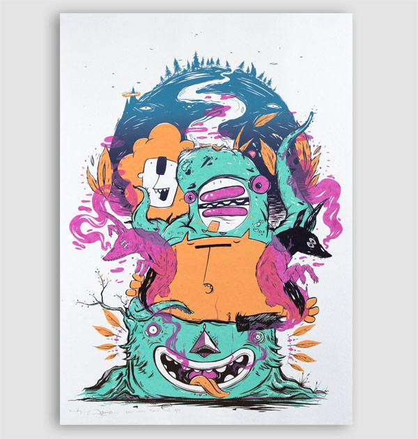 Totem – screen print